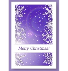 Christmas purple background with snowflakes vector