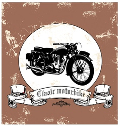 Clasic motorbike vector