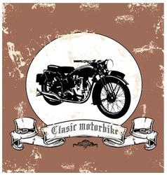 classic motorbike vector image