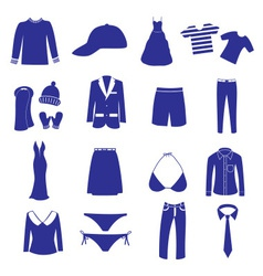 clothing icon set eps10 vector image