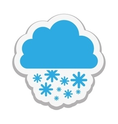 Cloud with snow icon image vector