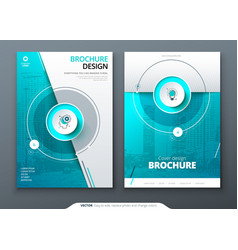 Cover set teal template for brochure banner vector
