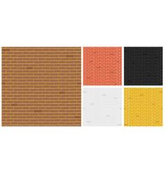 creative of color brick vector image