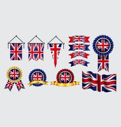Decoration or background united kingdom flag vector