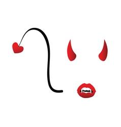 Devil girl face vector