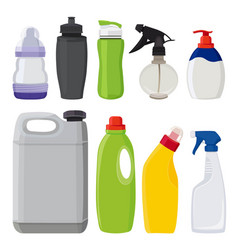 Different types of bottles pictures in vector