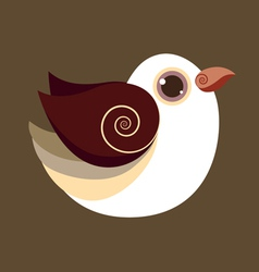 Dove bird cute abstract prehistoric color vector