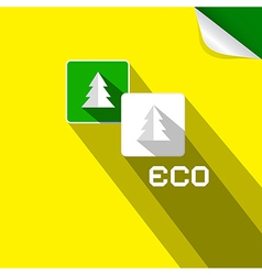 Eco Paper Cut Trees Symbols on Yellow Background vector image vector image