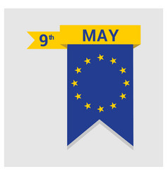european union day design vector image