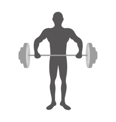 Fit man silhouette icon image vector
