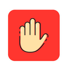 flat color hands sign icon vector image