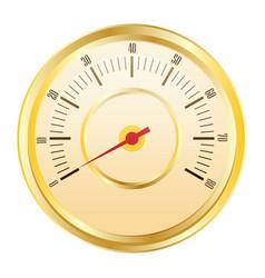 flat speedometer icon vector image