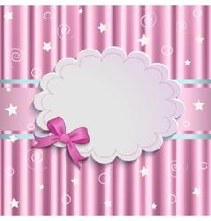 Gentle pink background vector