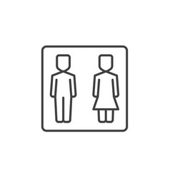 girl and boy wc concept icon in thin line vector image