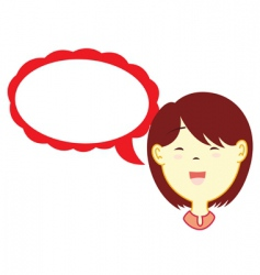 girl with dialog balloon vector image