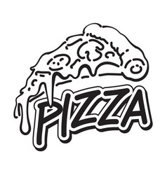 graphic pizza vector image