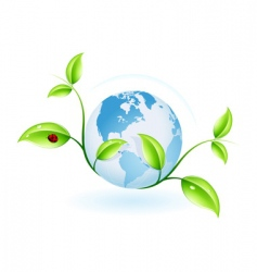 green ecology vector image vector image