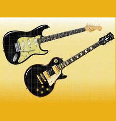 guitar giants vector image vector image