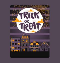 Halloween typography poster vector