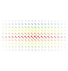 Hammer spectrum halftone effect vector