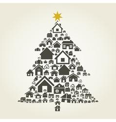 House a pine vector