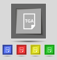 Image File type Format TGA icon sign on original vector