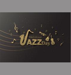 International jazz day premium theme paper cut vector