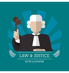 Judge of law and justice design vector image vector image