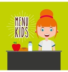 Kids menu restaurant icon vector