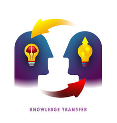 knowledge transfer vector image