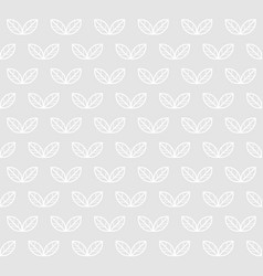 leaves seamless pattern light monochrome vector image