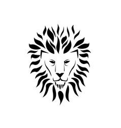 lion face logo vector image