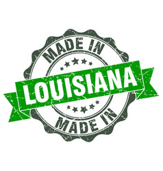 Made in louisiana round seal vector