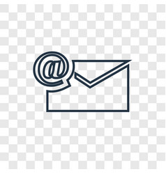 Mail concept linear icon isolated on transparent vector