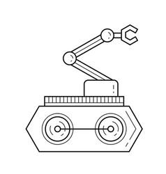 Manipulator line icon vector