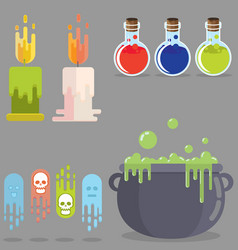 medieval rpg game flat elements set role play vector image