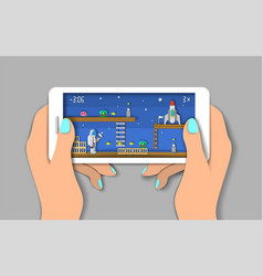 Mobile games flat style design vector