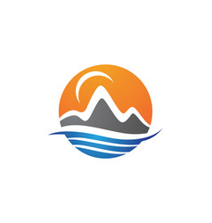 Mountains logo template icon vector