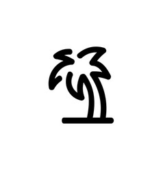 palm tree icon hand drawn line symbol vector image
