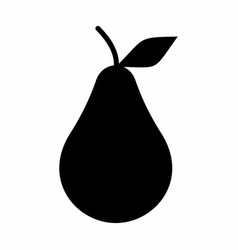 pear dark silhouette vector image