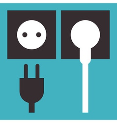 Plug and socket icon vector