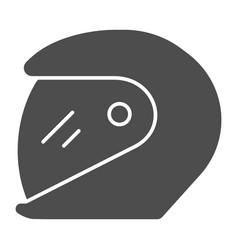 Racing helmet solid icon motorcycle helmet vector