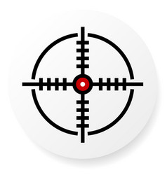 Reticle cross-hair icon vector