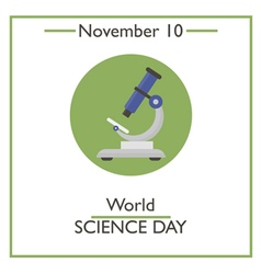 Science Day vector image