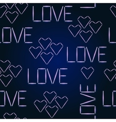 Seamless pattern Halogen Love Glowing vector