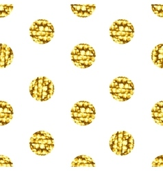 Seamless pattern with gold shine glitter dots on vector