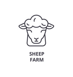 Sheep farm line icon outline sign linear symbol vector