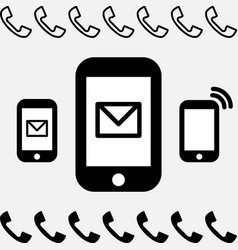 simple smartphone or mobile phone icon isolated vector image