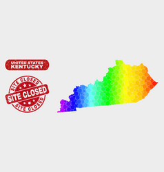 Spectrum mosaic kentucky state map and scratched vector