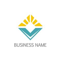 square shine business company logo vector image